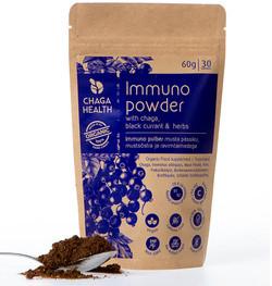 Chaga Health Immuno Poeder Chaga & Zwarte Bes 60 gram biologisch