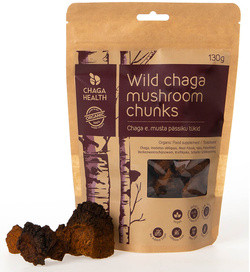 Chaga Health Wilde Chaga Paddenstoelen Stukken 130 gram biologisch