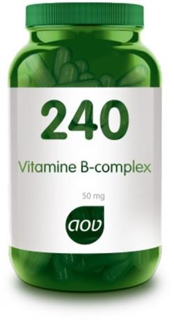 AOV Vitamine B-complex 50 mg - 240 60 vegetarische capsules