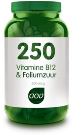 AOV Vitamine B12 & Foliumzuur - 250 60 vegetarische capsules