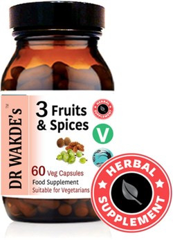 Dr. Wakde 3 Fruits & Spices 60 vegetarische capsules
