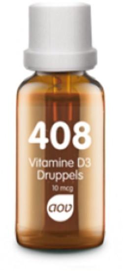 AOV Vitamine D3 Druppels 400 IE - 408 25 milliliter