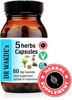 Dr. Wakde 5 Herbs 60 capsules