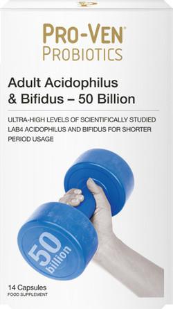 Pro-Ven Probiotics Probiotica 50 miljard 14 capsules