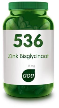 AOV Zink Bisglycinaat 15 mg - 536 120 vegetarische capsules