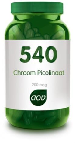 AOV Chroom Picolinaat - 540 60 vegetarische capsules
