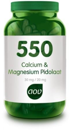 AOV Calcium Magnesium Pidolaat - 550 90 capsules