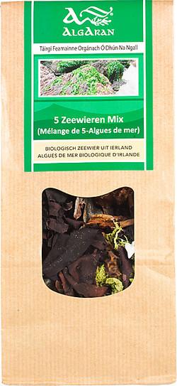 AlgAran 5 Zeewieren mix raw 40 gram biologisch