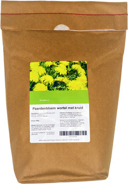 Paardenbloem Wortel en Kruid 500 gram biologisch
