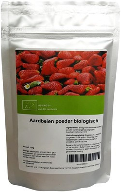 Aardbeien poeder biologisch biologisch