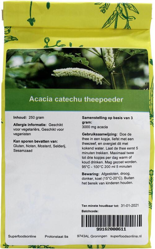 Shakthee Acacia catechu theepoeder 250 gram