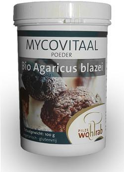 Mycovitaal Agaricus blazei poeder 100 gram biologisch