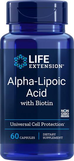 Life Extension Alfa Liponzuur met biotine 60 capsules