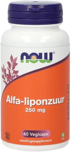 NOW Foods Alfa-liponzuur 250 mg 60 capsules