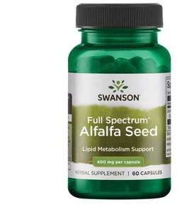 Swanson Alfalfa Seed 60 capsules