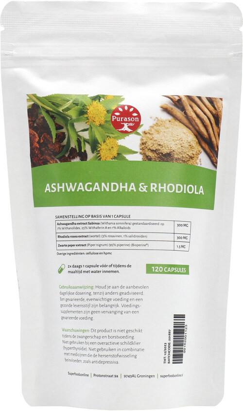 Purason Ashwagandha en Rhodiola extract