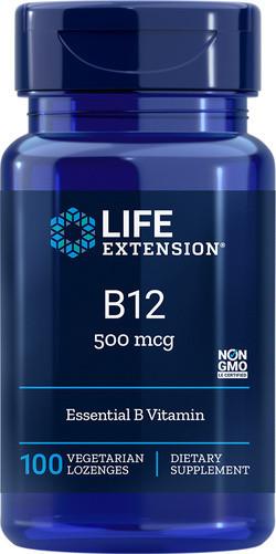 Life Extension Vitamine B12 500 mcg 100 tabletten biologisch