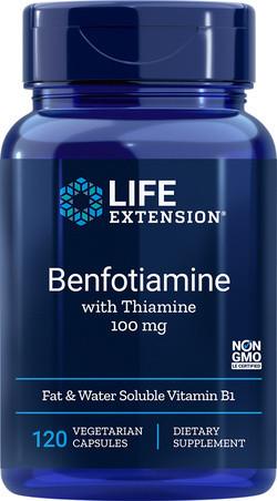 Life Extension Benfotiamine met Thiamine 120 capsules