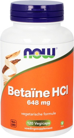 NOW Foods Betaine HCI 120 capsules