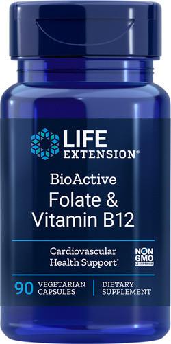 Life Extension Bioactive Folate & Vitamin B12 90 capsules