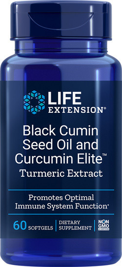Life Extension Black Cumin Seed Oil and Curcumin Elite™