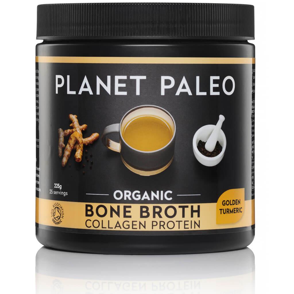 Planet Paleo Bone Broth Collagen Protein Golden Turmeric Bio 225 gram biologisch