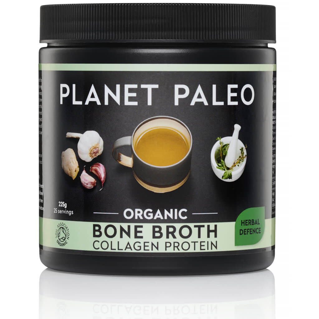 Planet Paleo Bone Broth Collagen Protein Herbal Defence Bio 225 gram biologisch