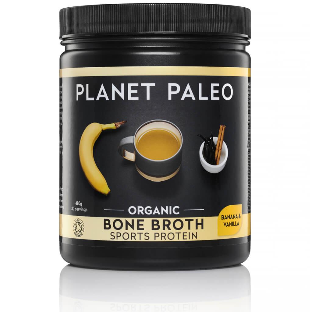 Planet Paleo Bone Broth Sport Protein Vanilla & Banana Bio 480 gram biologisch