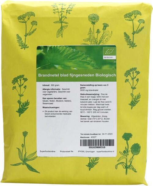Shakthee Brandnetel blad gesneden biologisch
