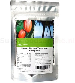 Criollo Cacao Nibs met Yacon 125 gram biologisch