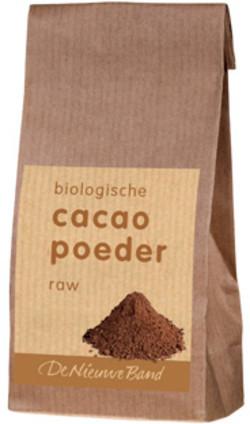 De Nieuwe Band Cacao poeder raw 250 gram biologisch