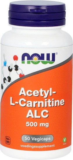 NOW Foods Acetyl-L-Carnitine 500 mg 50 capsules