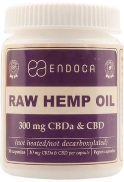 Endoca CBD capsules raw 300 mg 30 capsules