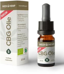 Medihemp CBG olie 5% 10ml 10 milliliter biologisch