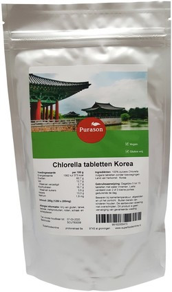 Purason Chlorella Korea Tabletten 1250 tabletten
