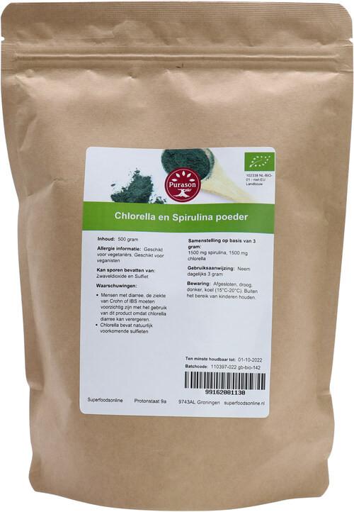 Purason Chlorella en Spirulina poeder biologisch