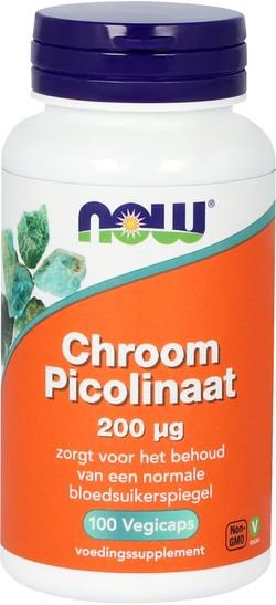 NOW Foods Chroom Picolinaat 200 mcg 100 capsules