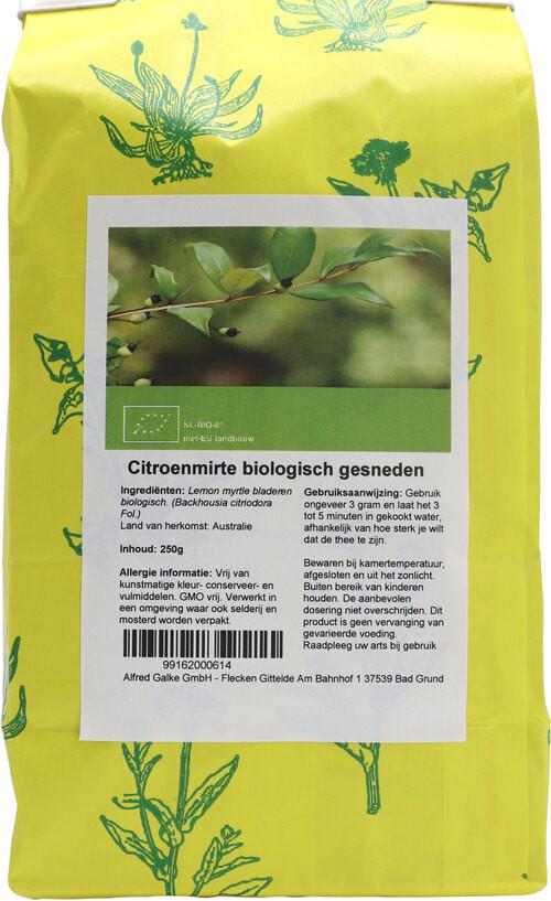 Shakthee Citroenmirte gesneden Bio 250 gram biologisch