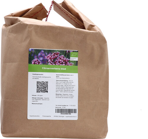 Shakthee Citroenverbena blad Bio 250 gram biologisch