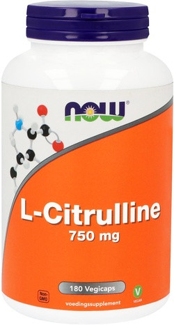 NOW Foods L-Citrulline 750 mg 180 capsules