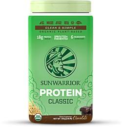 Sunwarrior classic rijstproteine chocolade bij Superfoods online