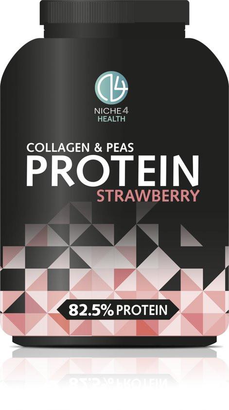 Niche4health Collagen and Pea Protein Strawberry