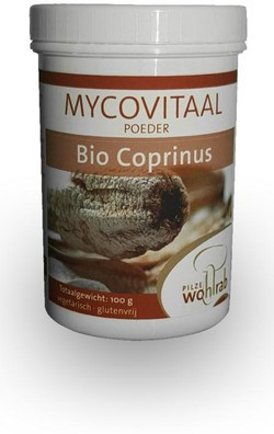Mycovitaal Coprinus poeder 100 gram biologisch