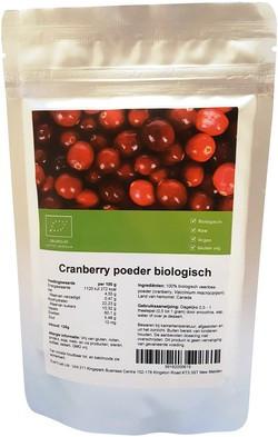 Cranberry (Veenbes) poeder biologisch 125 gram kopen bij Superfoodsonline
