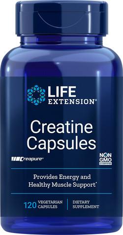 Life Extension Creatine capsules 120 vega softgel capsules