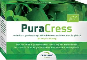 Cressana PuraCress Waterkers BIO 60 capsules biologisch