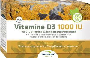 Cressana Vitamine D3 1000 IU & K2 60 capsules