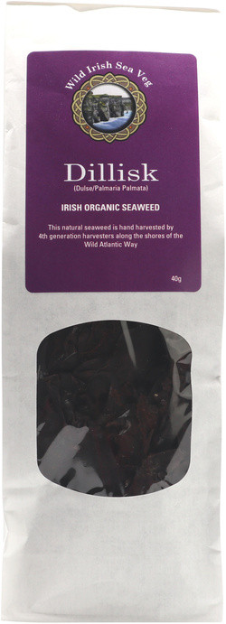 Wild Irish Seaweeds Organic Irish Dulse Dillisk 40 gram biologisch