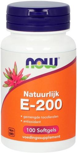 NOW Foods Natuurlijk E-200 Gemengde Tocoferolen 100 capsules