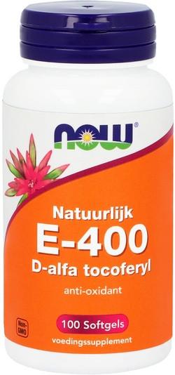 NOW Foods Natuurlijke E-400 Gemengde Tocoferolen 100 capsules